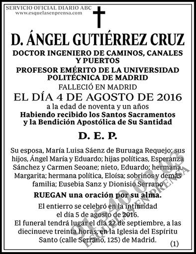 Ángel Gutiérrez Cruz